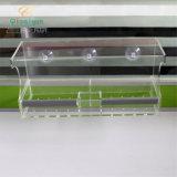precio de fábrica acrílico transparente de la ventana de la casa de aves alimentadores de aves con ventosas