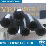Boyau en caoutchouc résistant tressé du pétrole R3 hydraulique du tissu SAE 100