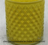 蝋燭のマグの蝋燭ホールダーのロウソクカラーガラスコップのホーム装飾