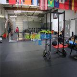 Stuoia di gomma utilizzata della pavimentazione di ginnastica/pavimentazione di gomma sport antiscorrimento, stuoia di gomma dell'interno di ginnastica, pavimentazione della palestra