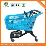 Meilleur chariot de shopping en plastique sécurisé en plastique (JS-TCT01)