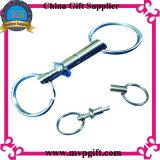 Anello chiave del metallo con la spina della molla (M-MK65)
