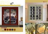 Entwurfs-Aluminium-/Aluminiumlegierung-horizontales schiebendes Schärpe-Glasfenster