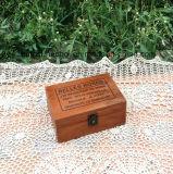 보석을%s Retro 색깔 장방형 나무로 되는 포장 상자