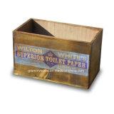 Retro Vintage de madera hechos a mano las cajas de almacenamiento con impresión a color