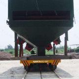 20t usine pharmaceutique wagon plat électrique pour le transfert sur des rails