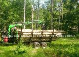 De Aanhangwagen van het hout met Kraan en 4X4 Automatische Rolldrive