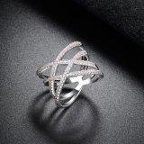 Anello di cerimonia nuziale cubico placcato oro reale ecologico di Zirconia