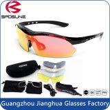 Pleines lunettes de soleil de recyclage d'hommes de la version UV400 de la lentille HD pour des sports