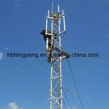 Ha diseñado varias capas de la plataforma de cable de comunicación de la torre Guyed