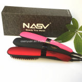 100% Original Anion Straight Comb Auto Autocollant Brosse Beauty Star Nasv-300 Hair Straightener Brush Negative Ions Hair Straight Brush