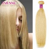金髪の拡張自然なまっすぐに100%ペルーの人間の毛髪