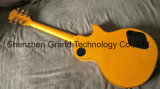 황색 (GLP-138)에 있는 흑단 Fingerboard를 가진 DIY Lp 기타 장비/웅대한 음악/Lp 일렉트릭 기타