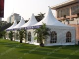 Pagode Tent mit Beautiful Franzosen Windows