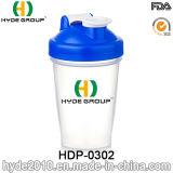 400ml BPA liberano la bottiglia di acqua di plastica dell'agitatore del miscelatore, bottiglia di plastica personalizzata dell'agitatore della proteina dei pp (HDP-0302)