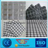 Fibre de verre biaxes géogrille combinés avec du polyester géotextile