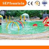 Het Stuk speelgoed van het Spel van het Water van de Ring van de Nevel van de Regenboog van het Stootkussen van de plons voor de Apparatuur van het Park van het Water van Jonge geitjes
