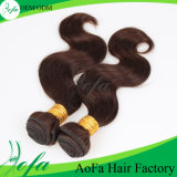 広州のバージンの毛はRemyの人間のインドの毛を製造する