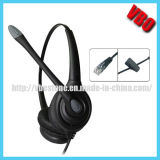 Rj Jack Telefone Headset Communication Call Center Headset