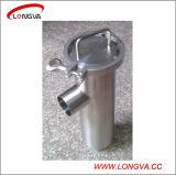Montaje del tubo de acero inoxidable sanitario Ensamblada Filtro de ángulo
