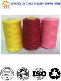 Hilo de coser 100% de la materia textil del poliester para el uso que hace punto
