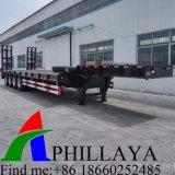 세 배 차축 기계적인 독일 현탁액 낮은 침대 트럭 트레일러