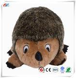 Giocattolo di burro e di squittio di crepitio della peluche dei giocattoli del cane di Hedgehogz, grande, Brown (2 pacchetti)