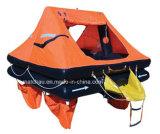 Jeter sur comité Self-Righting Radeau de sauvetage gonflable pour yacht