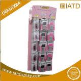 Sauter vers le haut les étalages de promotion de supermarché de détail de mémoire ridés par papier fait sur commande de carton de position