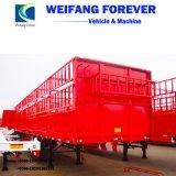 3 Semi Aanhangwagen van de Omheining van de Staaf van het Huis van de Staak van de Vrachtwagen van assen Flatbed