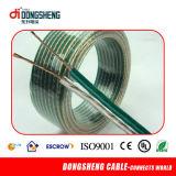 Transparente com isolamento de PVC o cabo do alto-falante