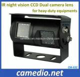 IP69k imprägniern Nachtsicht-Doppelkameraobjektiv-Rückseiten-Ansicht-Kamera für Heay-Aufgabe Geräte