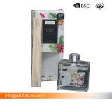 quadratischer Duft-Aroma-REEDdiffuser (zerstäuber) der Flaschen-150ml mit Rattan-Stöcken im Geschenk-Kasten