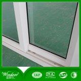 Окно PVC одиночной стеклянной хозяйственной белой рамки сползая