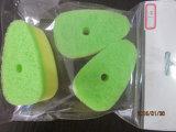 La couleur verte tampons à récurer pour la cuisine