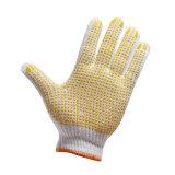 点が付いているPVCによって点を打たれる働く手袋