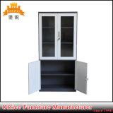 Vidro de cima para baixo da porta de aço armário de aparelho de Metal