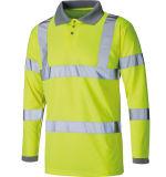 100% Polyester dry fit l'impression personnalisée Logo T-shirt Polo de sécurité réfléchissant