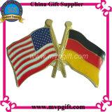 Договорная Металлический бейдж с флагом контакт (m-B26)