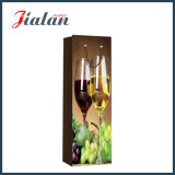 Bolsa de papel laminada brillante del regalo de la botella de vino de la uva del papel de marfil