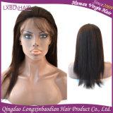 2016 Nuevo Diseño de Malasia virgen sin pegar pelo humano encaje peluca delantera