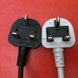 padrão BRITÂNICO aprovado preto do cabo de potência do BSI de 1.8m com IEC 320 C5