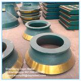Plaque d'usure du matériel minier Metso HP300 concasseur à cônes de pièces d'usure