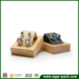 Soporte de visualización de madera de encargo al por mayor de la joyería de Soild