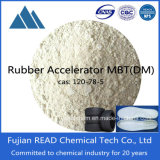 De voorraad wordt voorzien van de Gele Agent van de Vulcanisatie van de Rots Rubber (MBTS) van Rubber HulpDM van de Promotor van de Agent Zhedong (MBTS)