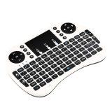 Draadloos Toetsenbord Touchpad met Muis I8 Mini2.4GHz voor PC, Stootkussen, xBox 360, PS3, de Androïde Doos van TV Google, HTPC, (Witte) IPTV