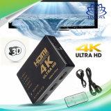 IR 먼 HDMI 스위치를 가진 PS3 HDTV DVD를 위한 4K 5에서 1 HDMI 쪼개는 도구 스위처 상자 선별기 허브 스위처