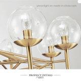 Contemporary Design Plating LED Metal Glass Chandelier European Style Pendant Lamp