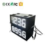 Preço lateral duplo sinal 5 polegadas estação de gás 8.888 Sinal Digital LED Visor de gasolina