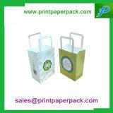 주문 기술 로고는 쇼핑/운반대 Foldable 포장 부대 의 사치품에 의하여 재생된 선물 패킹 부대, 당/차/단화/옷을%s 형식 Kraft 종이 봉지 인쇄했다